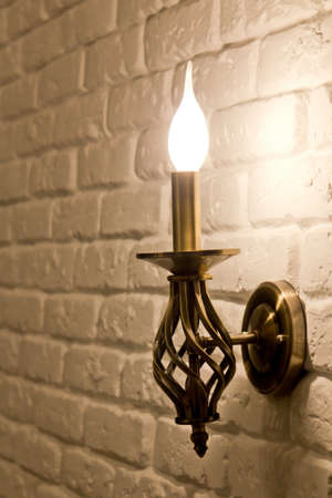 Wall candle-style lamp bracket photo