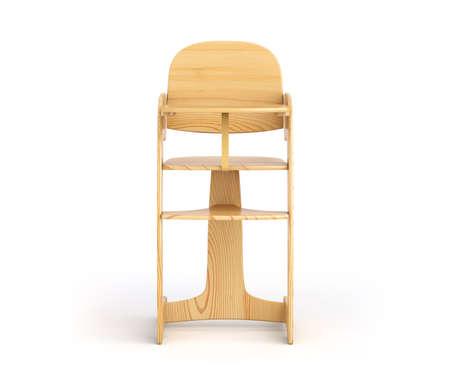 High chair for baby feeding 免版税图像