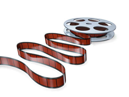 Film reel with frames photo