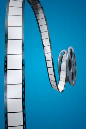 Film reel with blank frames photo