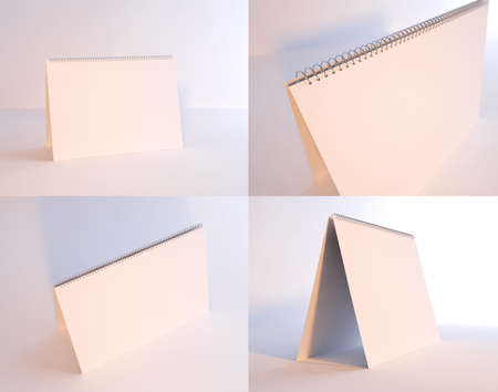 Set of 4 blank desktop calendars photo