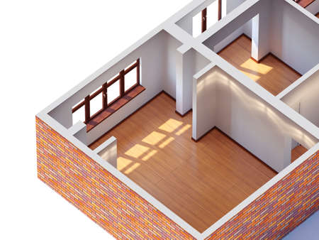 House interior planning  aerial view  photo