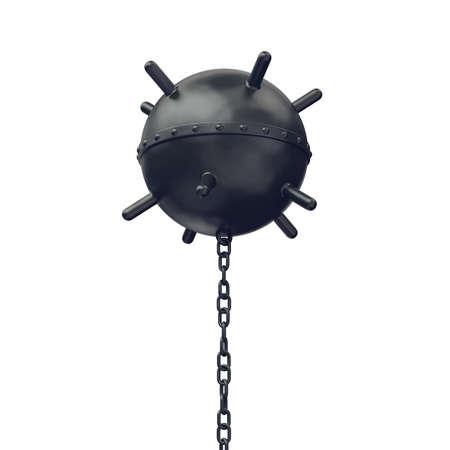 bombe: Naval mine isolé sur blanc