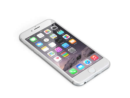 Apple iphone 6 space grey isolated
