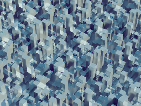 technological: Abstract pattern of big cities, megalopolis Stock Photo