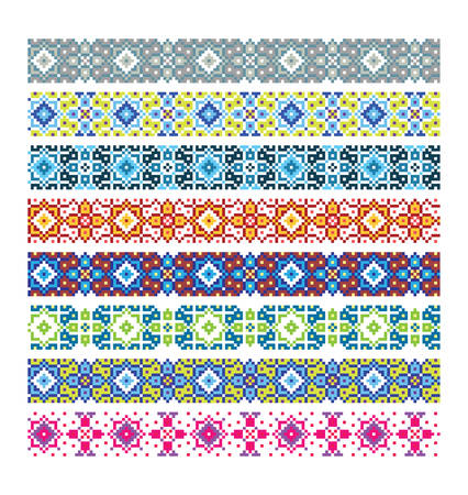 majolica: Seamless oriental patterns Illustration