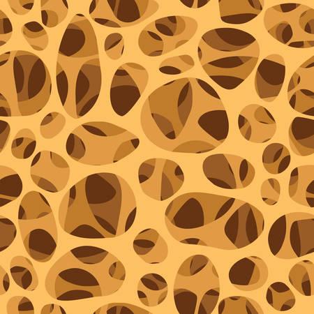 Bone spongy structure vector illustration, seamless texture