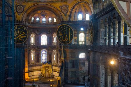 Hagia Sophia museum interior in Istanbul, Turkey, August 13, 2014