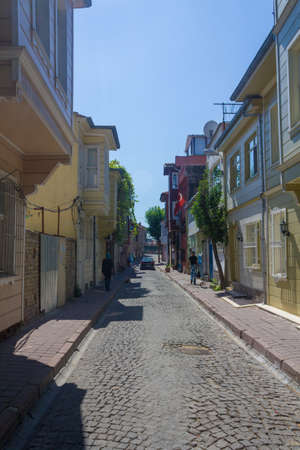 fatih: ISTANBUL, TURKEY - AUGUST 13: Istanbul citys Fatih district, street view