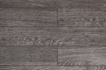 Gray wooden parquet floor made of planks Stock Photo