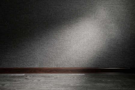 light ray: Bright ray of light illuminating a bit of dark empty background Stock Photo