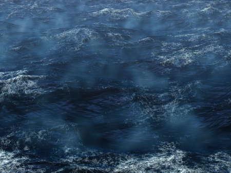 Hard storm in the ocean