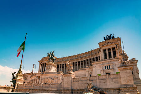 Altare della Patria and Monument to Victor Emmanuel, the first king of a unified Italy, on Piazza Venezia, Rome, Italy