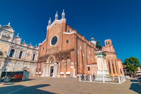 Venice, Italy - August 04, 2017: Basilica Santi Giovanni-e-Paolo in Venice