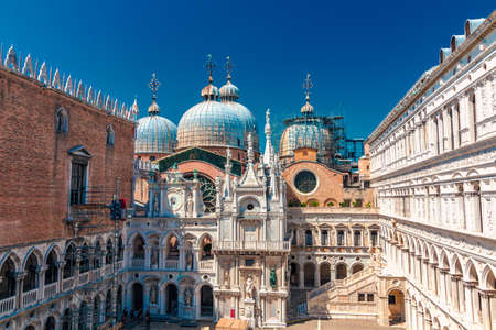 Beautiful Courtyard of Doges Palace, Venice, Italy