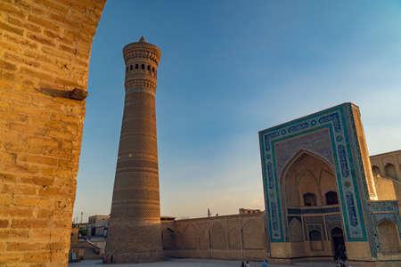 Kalyan Mosque and minaret at sunset, Bukhara, Uzbekistan