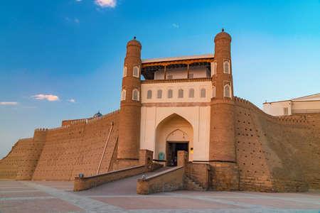 Ancient beautiful fortress Ark in Bukhara, Uzbekistan Reklamní fotografie