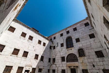Courtyard of an old venetian prison, museum in nowadays