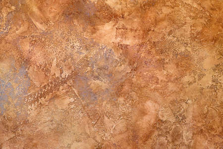 Orange grunge wall venetian plaster vintage texture Reklamní fotografie