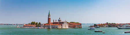 Venice, Italy - August, 04 2017: The Church del Santissimo Redentore or Most Holy Redeemer, view from Grand canal in Venice, Italy