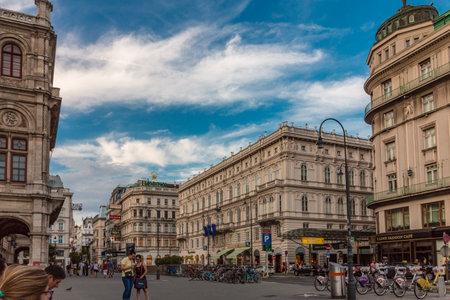 Vienna, Austria - August, 02 2017: Street in Vienna near Opera House Redakční