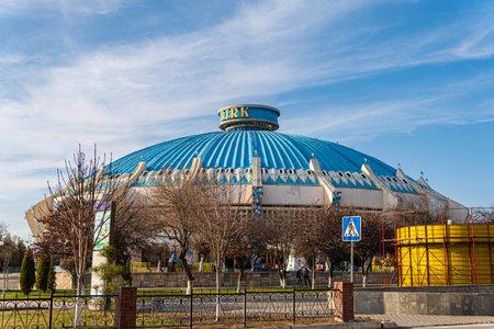 Tashkent, Uzbekistan - March 01, 2020: Circus building in Uzbekistan capital - Tashkent, medium shot