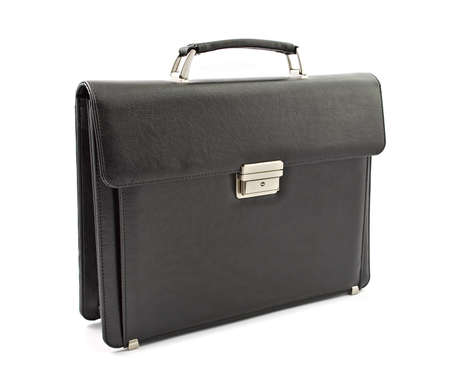 black briefcase: Business black briefcase Stock Photo