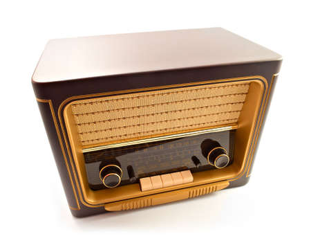 old styled: Old vintage radio  Stock Photo