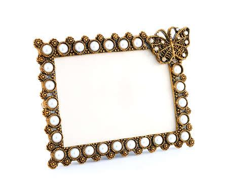 Decorative golden frame photo