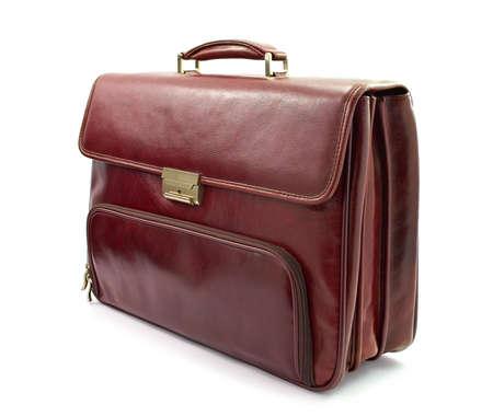briefcase: Luxury business brown briefcase Stock Photo
