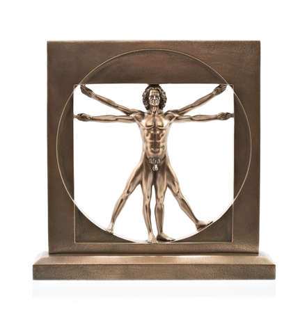 Vitruvian man of Leonardo Da Vinci photo