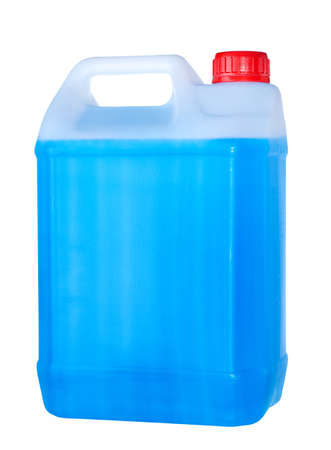 antifreeze: Blue container