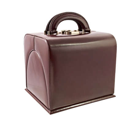 Leather box for cosmetic or jewelery photo