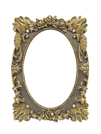 Floral picture frame isolated on white background