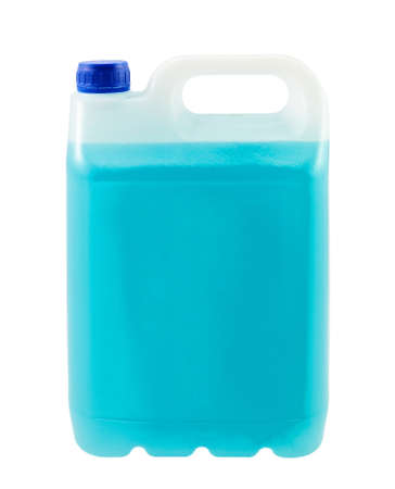 antifreeze: Canister with blue liquid