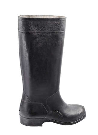 submersion: Rubber boot Stock Photo