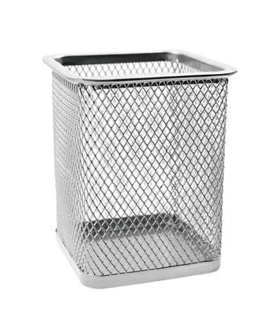 wastepaper basket: Empty wastepaper basket Stock Photo