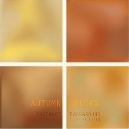 Herfstkleuren Achtergrond Set Collectie van vier verschillende achtergrond vector afbeeldingen in warme natuurlijke kleuren van de herfst. Deze vectoren bevat mesh kleuren.
