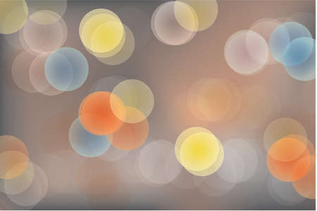 date night: Street Lights Abstract Background Abstract background vector with colorful vivid bokeh lights on dark background.  Vector file contains gradient mesh. Illustration