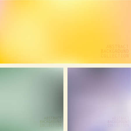 trio: Abstract colorful blurred background trio Set of three colorful blurred abstract background in yellow,green and blue Eps file contains gradient mesh. Illustration