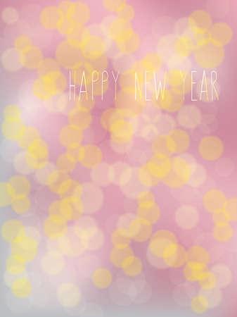 Abstracte bokeh effect achtergrond met warme verlichting. New Years Celebration Vivid warme kleuren abstracte achtergrond met defocused bokeh lichten. New Years viering.