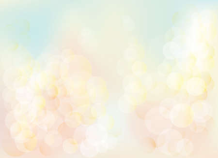 Blurred bokeh pastel lights background Abstract background with pastel colors bokeh. The esp file contains gradient mesh. Ilustração