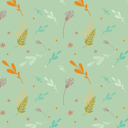Seamless floral pattern in pastel colors.