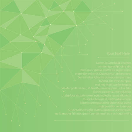 Abstract geometrical background in shades of green. Suitable for text or message.