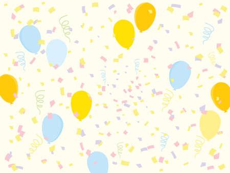 Pastel Kleuren Party Achtergrond Vector afbeelding ontwerp Stock Illustratie