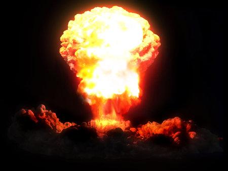 nuclear explosion Banco de Imagens