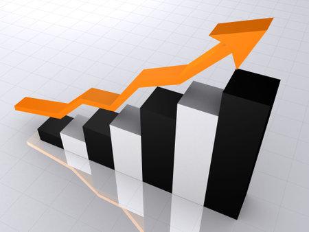 rising statistic Stock Photo - 660229