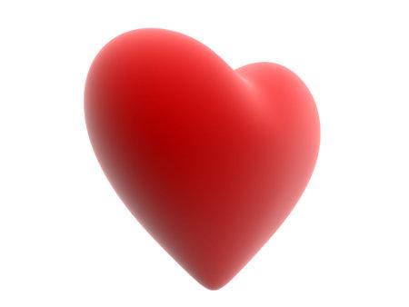 radiosity: red heart Stock Photo