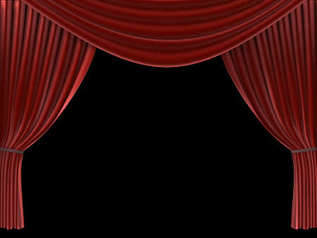 red curtain Stock Photo - 660352
