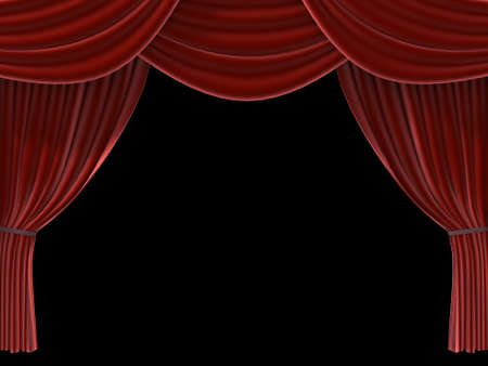 red curtain Stock Photo - 660351